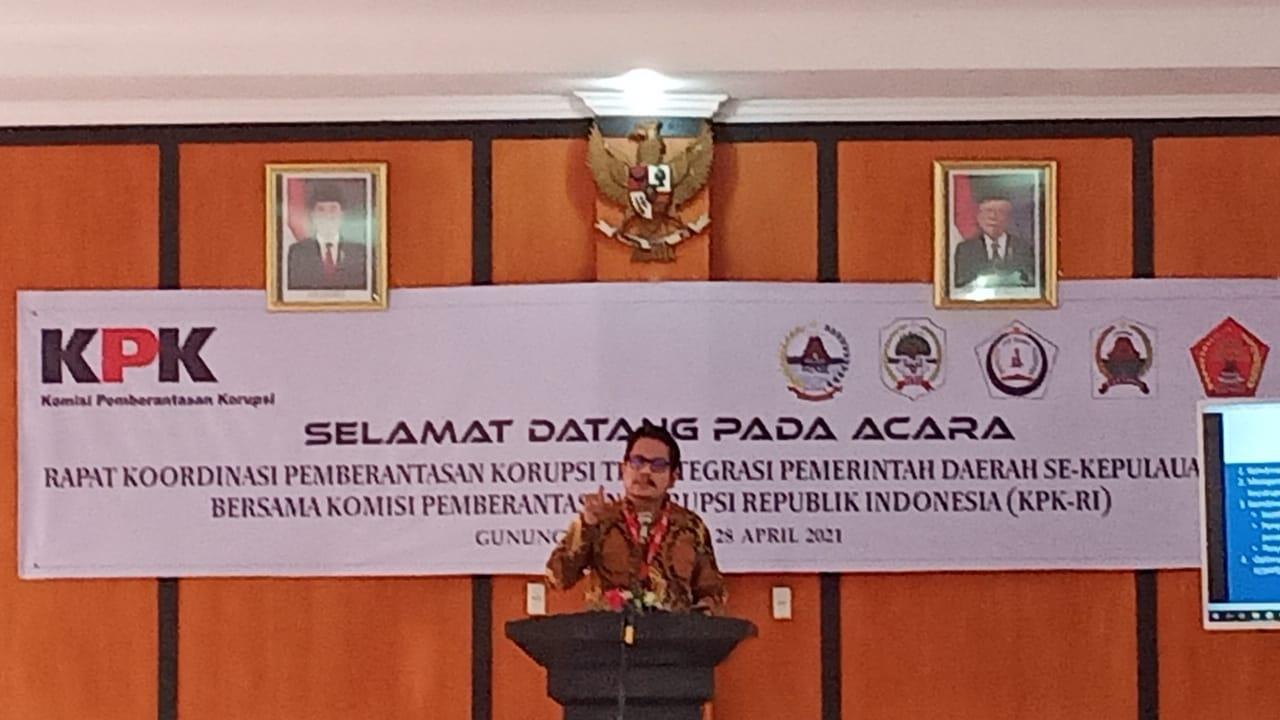 Sambutan Kasatgas Koordinasi Pencegahan KPK Wilayah I